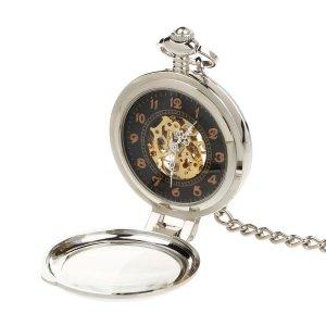 ORKINA W117 Mecánico Relojes de Collar Plata