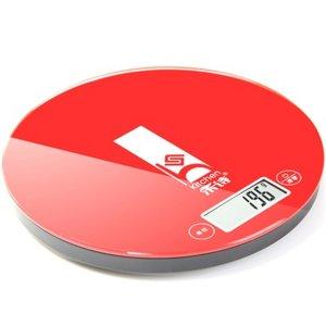 Báscula electrónica digital de cocina Heshi HS-C12 Rojo