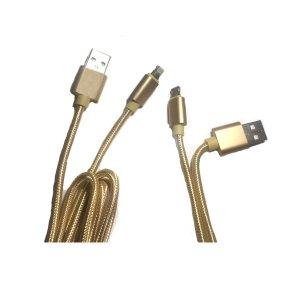 Cable de carga para celulares Android y iPhone