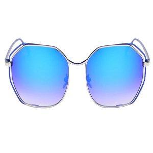 Gafas de sol CASSBOJUE 1825 de moda Marco azul metálico Lentes azules osucro