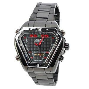 WEIDE WH1102-RG Reloj LED doble  visualización de acero inoxidable Hombres